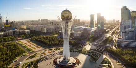The Capital city is Astana. It is a modern planned city like Brasilia housing the central seat of Government. It represents the new ambitious forward thinking plans the country has and has many new futuristic buildings.